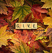 Give-autumn Art Print