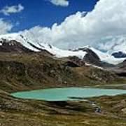 Glacial Lake In Kyrgyz Tien-shan Art Print