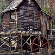 Glade Creek Grist Mill Series II Art Print