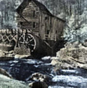 Glade Creek Mill In Infrared. Art Print