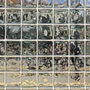Glass Block Wall Art Print