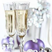 Glasses Of Champagne Art Print by Amanda Elwell