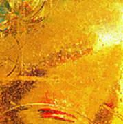 Glassworks Series-gold I Art Print