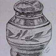 Glazed Tea Caddy Art Print