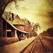 Glencoe Train Station Art Print