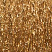 Glistening Gold Prairie Grass Abstract Art Print