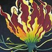 Gloriosa Lily Art Print