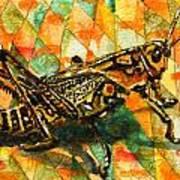 Glorious Grasshopper Art Print