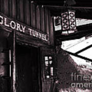 Glory Tunnel Mine Entrance In Calico California Art Print by Susanne Van Hulst