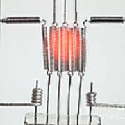 Glowing Filament 2 Of 4 Art Print