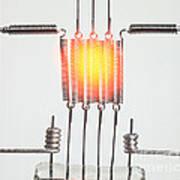 Glowing Filament 3 Of 4 Art Print