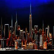 Glowing New York Art Print