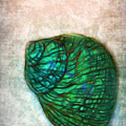 Glowing Seashell Art Print