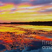 Glowing Skies Over Crews Lake Art Print