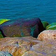 Goa Sea Front Rocks Art Print