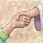 God And Man Together Art Print