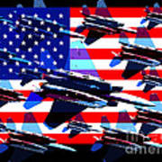 God Bless America Land Of The Free 2 Art Print by Wingsdomain Art and Photography