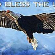 God Bless The Usa Art Print