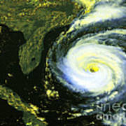 Goes 8 Satellite Image Of Hurricane Fran Art Print by Science Source