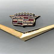Gold Badge Cadillac Art Print