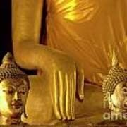 Gold Buddha Figures Art Print