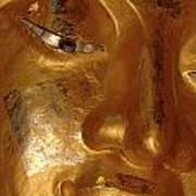 Gold Face Of Buddha Art Print