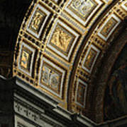 Gold Inlay Arches St. Peter's Basillica Art Print