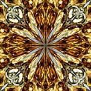 Gold Medallion 5 Art Print