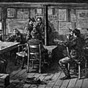 Gold Rush: Miners, 1887 Art Print