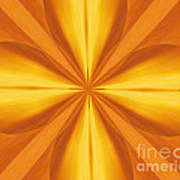 Golden 4 Leaf Clover  Art Print