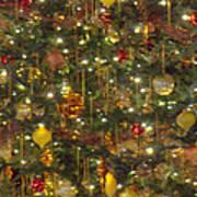 Golden Christmas Tree Art Print