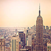 Golden City Of New York Art Print