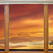 Golden Country Sunrise Window View Print by James BO  Insogna
