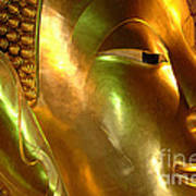 Golden Face Of Buddha Art Print