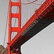 Golden Gate Bridge-touch Of Color Art Print