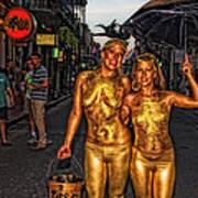 Golden Girls Of Bourbon Street  Art Print