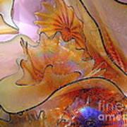 Golden Glass Waves Art Print