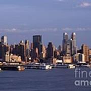 Golden Glow Of New York City Art Print