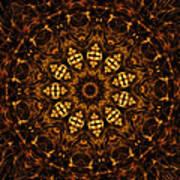 Golden Mandala 6 Art Print