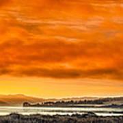Golden Morning Over Humboldt Bay Art Print