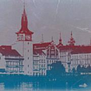 Golden Prague Art Print by Naxart Studio