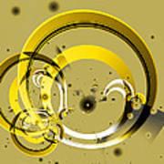 Golden Rings Art Print