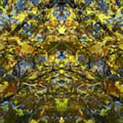 Golden Rorschach Art Print