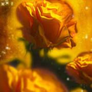 Golden Roses Print by Svetlana Sewell