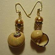 Golden Shell Earrings Art Print