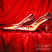Golden Shoes - Pholaroid Sx-70 Art Print