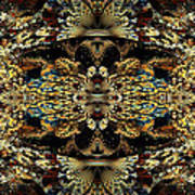Golden Split Crop Art Print