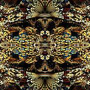 Golden Split Crop Art Print by Peggi Wolfe