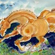 Golden Stride Art Print