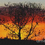 Golden Sunset Over Circle B Bar Sandstone Art Print
